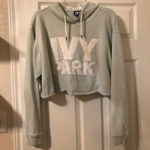 Ivy park mint green crop hoodie